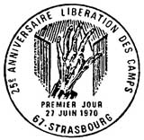 Oblitération 1er jour à Strasbourg le 27 juin 1970