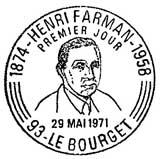 Oblitération 1er jour à Le Bourget le 29 mai 1971