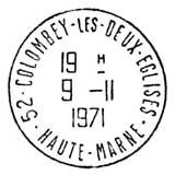 Oblitération 1er jour à Paris, Lille et Colombey-les-Deux-Eglises le 9 novembre 1971
