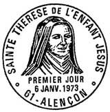 Oblitération 1er jour à Alençon le 16 janvier 1973
