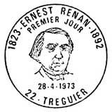 Oblitération 1er jour à Tréguier le 28 avril 1973