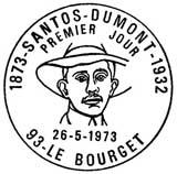 Oblitération 1er jour à Le Bourget le 25 mai 1973