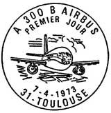 Oblitération 1er jour à Toulouse le 7 avril 1973