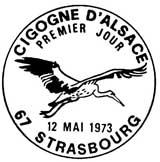 Oblitération 1er jour à Strasbourg le 12 mai 1973
