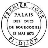 Oblitération 1er jour à Dijon le 19 mai 1973