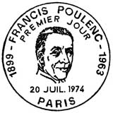 Oblitération 1er jour à Paris le 20 juillet 1974