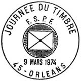 Oblitération 1er jour le 9 mars 1974