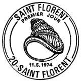 Oblitération 1er jour à Saint-Florent le 11 mai 1974