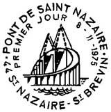Oblitération 1er jour à Saint-Nazaire le 8 novembre 1975