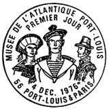 Oblitération 1er jour à Port-Louis et Paris le 4 décembre 1976