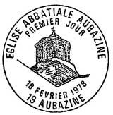 Oblitération 1er jour à Aubazine le 17 février 1978