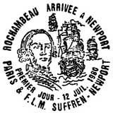 Oblitération 1er jour à Paris le 12 juillet 1980