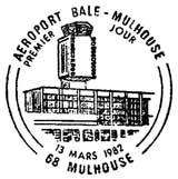 Oblitération 1er jour à Mulhouse le 13 février 1982