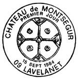 Oblitération 1er jour à Lavelanet le 15 septembre 1984