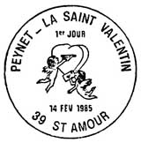 Oblitération 1er jour à Saint-Amour le 14 février 1985