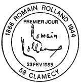 Oblitération 1er jour à Clamecy le 23 février 1985