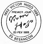Oblitération 1er jour à Besançon le 23 février 1985