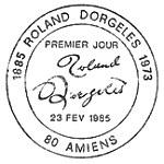 Oblitération 1er jour à Amiens le 23 février 1985