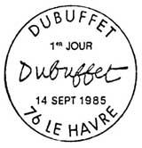 Oblitération 1er jour au Havre le 14 septembre 1985