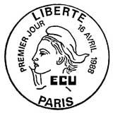 Oblitération 1er jour à Paris le 16 avril 1988