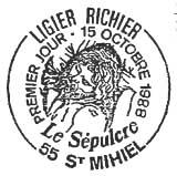 Oblitération 1er jour à St Michel le 15 octobre 1988