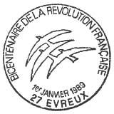 Oblitération 1er jour à Paris le 1 janvier 1989