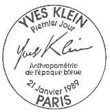 Oblitération 1er jour à Paris le 21 janvier 1989