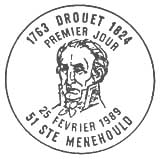 Oblitération 1er jour à St Menehould et Varennes le 25 février 1989