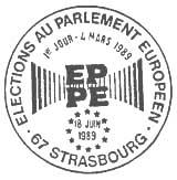 Oblitération 1er jour à Strasbourg le 4 mars 1989