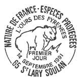 Oblitération 1er jour à St-Lory-Soulan le 14 septembre 1991