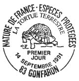 Oblitération 1er jour à Gonfaron le 14 septembre 1991