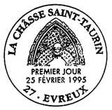 Oblitération 1er jour à Evreux le 21 février 1995