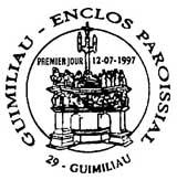 Oblitération 1er jour à Guimiliau le 12 juillet 1997