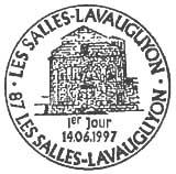 Oblitération 1er jour à Les Salles-Lavauguyon le 14 juin 1997