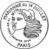 Oblitération 1er jour à Paris le 15 septembre 1997