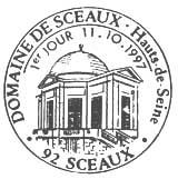 Oblitération 1er jour à Sceaux le 11 octobre 1997