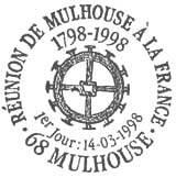 Oblitération 1er jour à Mulhouse le 14 mars 1998