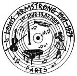 Oblitération 1er jour à Paris et Juan les Pins le 13 juillet 2002