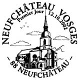 Oblitération 1er jour à Neufchateau le 12 octobre 2002