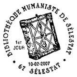 Oblitération 1er jour à Sélestat le 10 février 2007