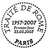 Oblitération 1er jour à Paris le 23 mars 2007