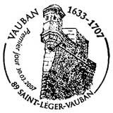 Oblitération 1er jour à saint Léger Vauban le 30 mars 2007