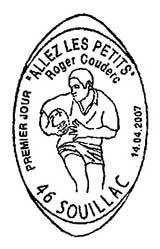 Oblitération 1er jour à Paris ou Souillac le 18 avril 2007