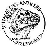 Oblitération 1er jour à Paris et Le Robert (Martinique) le 28 avril 2007