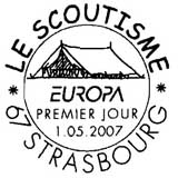 Oblitération 1er jour à Strasbourg le 1 mai 2007