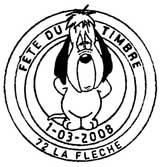 Oblitération 1 jour les 1 et 2 mars 2008 dans les 112 villes participant à le fête du timbre