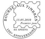 Oblitération 1er jour à Paris  au Carré d'Encre et à Amiens du 13 au 16 mai 2010
