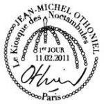 Oblitération 1er jour à Paris  au Carré d'Encre le 11 et 12 février 2011