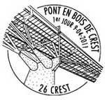 Oblitération 1er jour à Paris  au Carré d'Encre et à Crest le 9 et 10 avril 2011