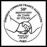 Oblitération 1er jour à Paris au Carré d'Encre le mercredi 2 janvier 2013.'
